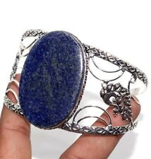 Adjustable Bangle Jewelry Gift Gw Lapis Lazuli 925 Sterling Silver Plated