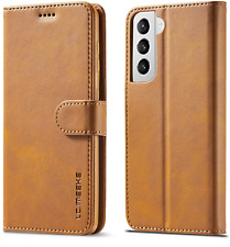Premium Leather Wallet Case For Samsung Galaxy S21 5G 6.2 Inch Luxury Flip Cover