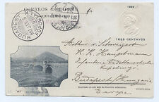 PERU 1899 Picture PS Stationery 3c Puente de Balta from Lima to Budapest