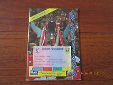 1992/3 WIMBLEDON v MANCHESTER UNITED PROGRAMME & TICKET