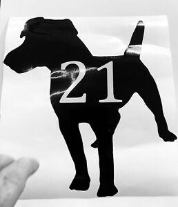 Patterdale Dog Number Wheelie Bin Sticker