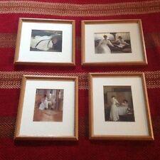 Vintage Metropolitan Museum Of Art Set Of Four Framed Matted Prints 1987