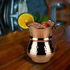 Hammered Copper Turkish Mug Set of 2, Handmade Pure Copper Tumbler Drinkware