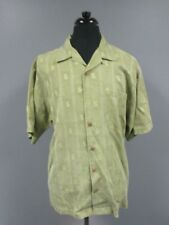 TOMMY BAHAMA Green Money Short Sleeves Button Front Casual Shirt Sz L DD8147