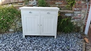Vintage Painted Mahogany Cupboard Late Victorian.