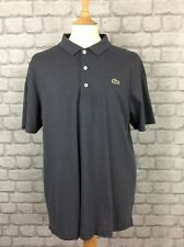 LACOSTE SPORT MENS UK XL SIZE 6 DARK GREY SHORT SLEEVE POLO SHIRT CASUAL SMART