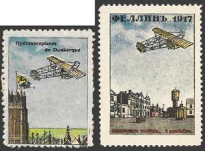 1917 Fillin Russia design from Delandre Hydroaeroplane - set of two