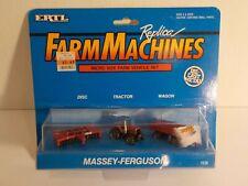 Ertl Farm Machines Micro Size Vehicle Set MASSEY-FERGUSON Tractor Disc Wagon MOC