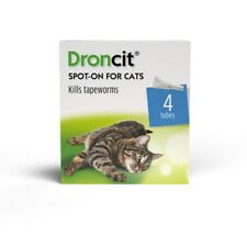 More details for droncit spot on wormer for cats 4 pipettes - 4 month tapeworm worming treatment
