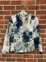 Coldwater Creek Size 16 XL Large Art to Wear Jacquard Floral Blazer Suit Coat