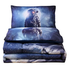 Outer Space Astronaut Bedding Sets Queen Size Comforter Set Bedspread US STOCK