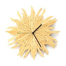 Haystack natural - organic wall clock made of natural plywood