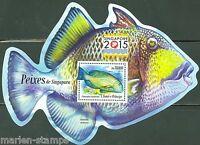 SAO TOME 2015 FISH OF SINGAPORE  SOUVENIR SHEET MINT NH