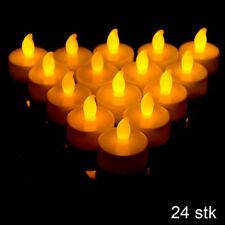 24x LED Teelichter inkl. Batterien flackernd Teelicht Kerzen Flackerlicht