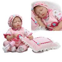 22'' Lifelike Baby Girl Doll Handmade Silicone Vinyl Reborn Newborn H AL