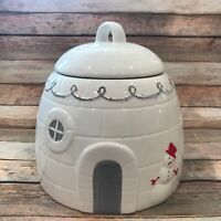 New 2019 Magenta Maker of Rae Dunn White Igloo canister / Cook Jar with snowman