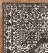 New Mamluk Natural Brown 8'x10' Antique Style Hand Knotted Wool & Silk Area Rug