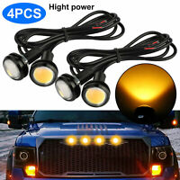 4pcs Universal LED Amber Grille Mark Lights for Truck SUV Ford SVT Raptor Style