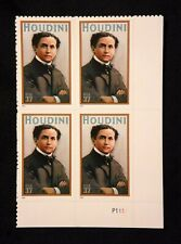 US Stamps #3651 ~ 2002 HOUDINI 37c Plate Block MNH