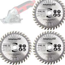Mini Scie Circulaire 3x Hm Lame de Bois 85x10 Pour Aldi Duro / Lidl / Norma /