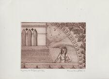 art naïf italien - Franco Corrado Pau  - 1 gravure