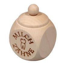 """Hofmeister 30531 Tooth Box """" Milk Teeth """" with Screw Cap Wood Box #"""