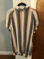 BDG Womens Striped Collared Shirt Size Medium