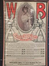 Antique Advertising Print WB Erect Form Corsets c. 1910