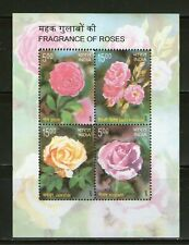 INDIA : SOUV. SHEET ON FRAGRANCE OF ROSES-2007,MNH, # 22