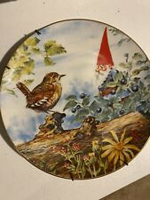 """Rien Poortvliet """"The Berry Pickers� Collector Plate Gnomes Summer Season"""