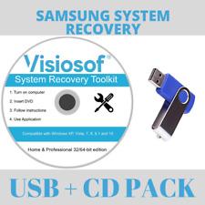SAMSUNG Recovery Repair Disk USB Software Boot Restore CD Windows 10 8 7 Vista