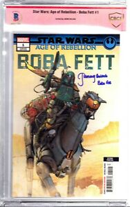 "JEREMY BULLOCH Signed Autographed ""BOBA FETT"" Star Wars Comic Book BAS CBCS"