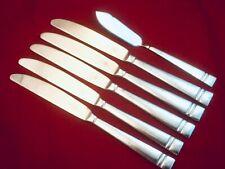 6 PFALTZGRAFF PASSAGE DINNER KNIVES +BUTTER KNIFE GLOSSY HEAVY STAINLESS RETIRED