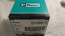 Box of 10 Pieces Panduit Pan-Way CFX3WH-X Fittings, White, Coupler Fitting Cover