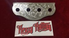 Lowrider Hydraulic 4 Hole Chrome Engraved Switch Plate