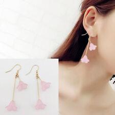 Korean Fashion Women Hook Flowers Drop Dangle Long Party Earrings Jewelry Gift