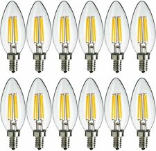 12x MaxLite LED Chandelier Bulbs 4W(40W) Enclosed Fixture Rated Dimmable E12