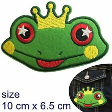 Frog Prince Iron on patch fairy tail lucky royal frog embroidery iron-on patches
