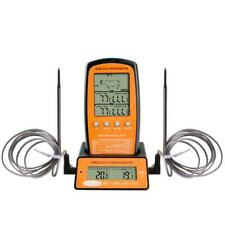 Digital BBQ Thermometer Wireless Kitchen Oven Food Cooking Grill Smoker Meat The