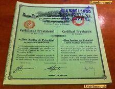 Banco Hipotecario de Credito Territorial Mexicano SA 27 Novembre 1923