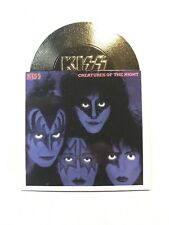KISS 2001 NECA Alive gold record card, A13 Creatures of the Night