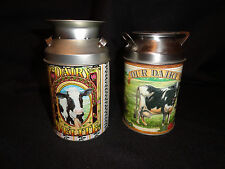 MILK CAN / DAIRY CAN TINS SET 0F 2