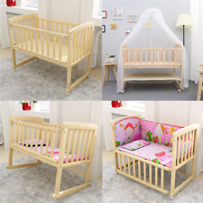 BABY BED SIDE CRIB NURSERY NEXT TO MUM NEXT BED FROM BIRTH COT +MATTRESS
