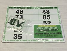 Greater Than, Less Than - Set of 6 Learning Mats 40 Cards - Laminated Activity