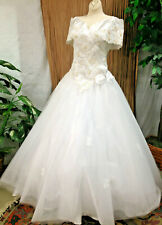 SAN MARTIN WIDE COLLAR BALLGOWN WEDDING DRESS  BRIDAL RENAISSANCE FAIRE  SIZEM