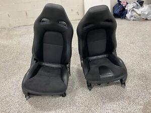 2009 Nissan GT-R OEM GTR Black Front Seats Pair R35
