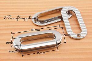 eyelets screw on eyelet grommets alloy nickel oval 6 sets 35 mm T1