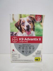 Bayer K9 Advantix II Flea Tick Prevention LARGE Dogs 21-55lbs 4ct *READ MORE*