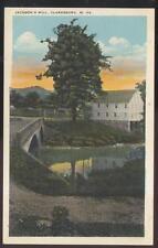 Postcard CLARKSBURG West Virginia/WV  Jackson's Grain Mill & Bridge 1910's