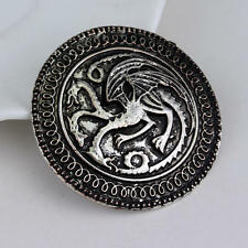 Vintage Dragon Badge Pin Alloy Round Badge Brooch Men Garment Accessories 2017